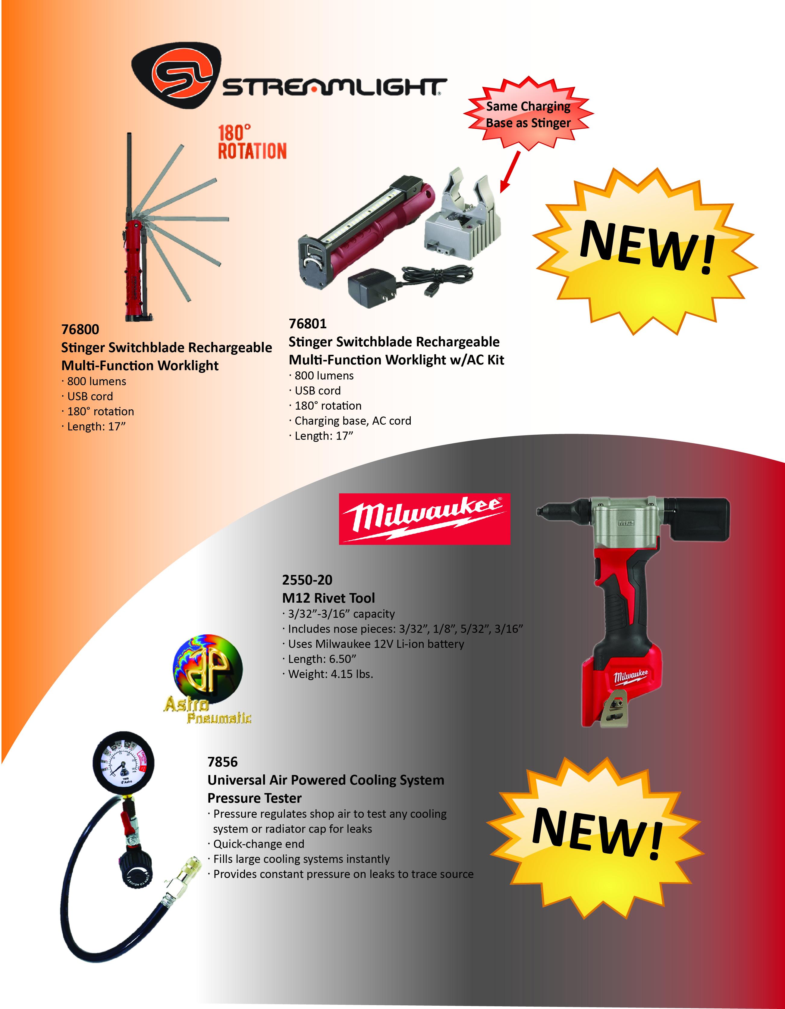 5 3 Streamlight Astro Milwaukee - Gezon Tool