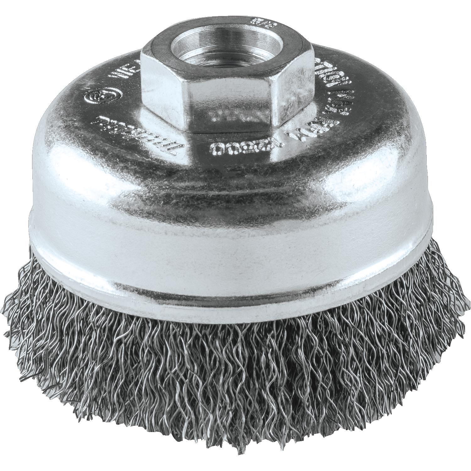 3″ WIRE CUP BRUSH  5/8″-11 THR